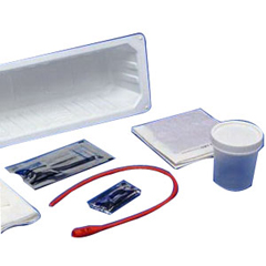 IND6875005-EA - MedtronicKENGUARD Dover Red Rubber Open Urethral Catheter Tray 14 Fr, 1/EA