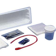 IND6875005-EA - Cardinal Health - KENGUARD Dover Red Rubber Open Urethral Catheter Tray 14 Fr, 1/EA