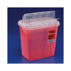 IND6889651 - Medtronic2 Gallon General/Ancillary Container, Solid Red, H Drop, 1/EA