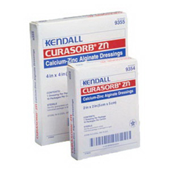 IND689355-BX - Cardinal Health - Curasorb Zinc Calcium Alginate Dressing 4 x 4, 10/BX