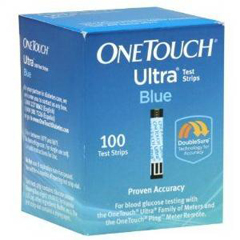 IND70020245-BX - Life Scan - OneTouch Ultra Blue Blood Glucose Test Strip (100 count)