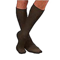 INDBI110843-EA - Jobst - SensiFoot Crew Length Mild Compression Diabetic Sock Large, Brown, One Pair