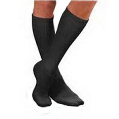 INDBI110851-EA - Jobst - SensiFoot Crew Length Mild Compression Diabetic Sock Small, Black, One Pair