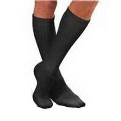 INDBI110852-EA - Jobst - SensiFoot Crew Length Mild Compression Diabetic Sock Medium, Black, One Pair