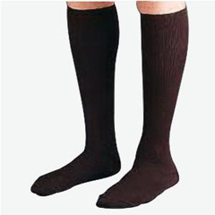 INDBI110856-EA - Jobst - SensiFoot Knee-High Mild Compression Diabetic Sock Small, Brown, One Pair