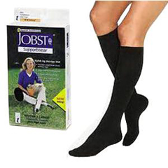 INDBI110863-EA - Jobst - SensiFoot Knee-High Mild Compression Diabetic Sock Large, Navy, One Pair