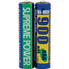 INDCBSP900AAAX2-PK - Supreme Technologies - Rechargeable AAA Batteries, 2/Pkg, 2/PK