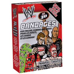 INDCOSWE6053C-BX - Cosrich GroupOuchies WWE Adhesive Bandages 30 ct, 20/BX
