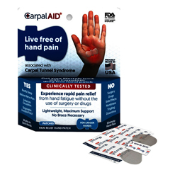 INDCPLCA00039-BX - CarpalAID - Large Hand Patch, 12/BX