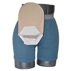 INDCX582801-EA - C&S Ostomy Pouch Covers - Daily Wear Pouch Cover, Open End, Fits Flange Opening of 3/4 to 2-1/4, Overall Length 10, Tan, 1/EA