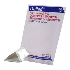 INDDE87810-EA - Integra Lifesciences - Dupad Sterile Abdominal Pads, Sealed End, 8 x 10, 1/EA