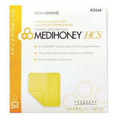 INDDS31622-BX - Integra Lifesciences - MEDIHONEY Non-Adhesive HCS Sheet, 2.4 x 2.4, 10/BX