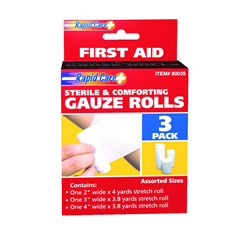 INDISG80035-CS - Rapid Care - 3-Pack Gauze Roll, 2, 3 and 4, 108/CS