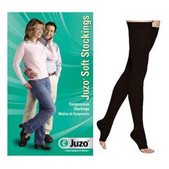 INDJU2001AGSB105-EA - Juzo - Soft Thigh-High with Silicone Border, 20-30, Open, Black, Size 5, 1/EA