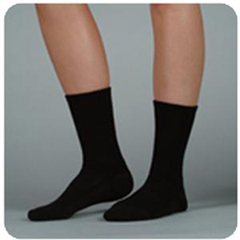 INDJU5760ACL10-EA - Juzo - Silver Sole Support Sock, 12-16, Lrg, Crew, Black, 1/EA