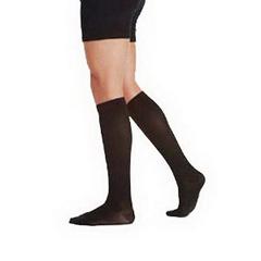 INDJU5800AD510-EA - Juzo - Knee High Cotton Sock, 15-20, Full Foot, Size 5, Black, 1/EA
