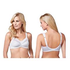 INDKU54323054-EA - AmoenaIsadora Non-Wired Bra, Soft Cup, Size 42D, White, Ref# 294742DWH, 1/EA