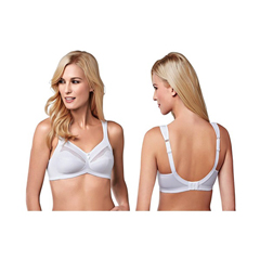 INDKU54323064-EA - AmoenaIsadora Wire-Free Bra, Soft Cup, Size 44D, White, Ref# 294744DWH, 1/EA
