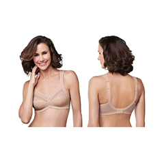 INDKU54323104-EA - AmoenaIsadora Wire-Free Bra, Soft Cup, Size 32D, Nude, Ref# 294832DNU, 1/EA
