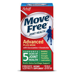 INDKY266460-EA - KinraySchiff Move Free Advanced Plus 1500 mg MSM Tablets (120 Count), 1/EA