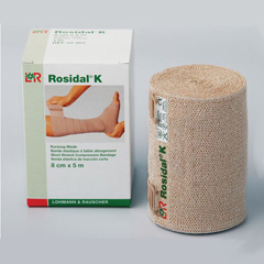 INDLR90688-BX - Lohmann & Rauscher - Rosidal K Short Stretch Bandage, 4.7 X 5.5 yds., 1/BX