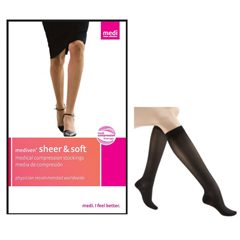 INDNE42852-EA - Medi - Sheer & Soft Pantyhose, 15-20, Closed, Ebony, Size 2, 1/EA