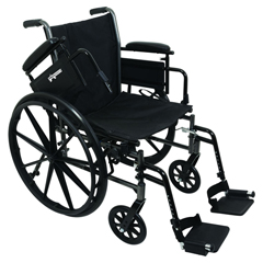 INDPMIWC31616DS-EA - PMIK3-Lite Wheelchair with Removable Desk-Length Arms and Swing-Away Footrests, 16 x 16, 1/EA