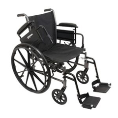 INDPMIWC31816DS-EA - PMIK3-Lite Wheelchair with Removable Desk-Length Arms and Swing-Away Footrests, 18 x 16, 1/EA