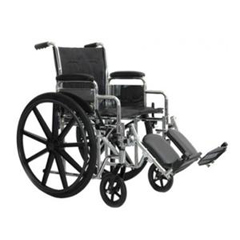 INDPMIWC72218DS-EA - PMIK7-Lite Wheelchair with Removable Desk Arms and Swing-Away Footrests, 22 x 18, 1/EA