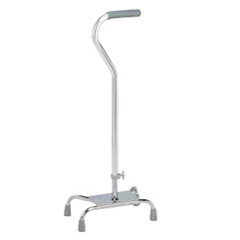 INDRMA740C0-CS - Apex-CarexLarge Base Offset Quad Cane, Silver, 2/CS