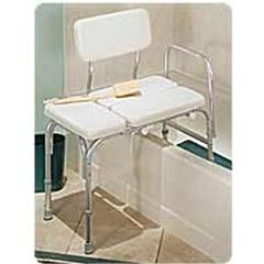 INDRMB15011-CS - Apex-CarexDeluxe Vinyl Padded Tub Transfer Bench w/Full Seat, 1/EA