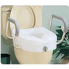INDRMB311C0-EA - Apex-Carex - E-Z Lock Raised Toilet Seat With Arms, 1/EA
