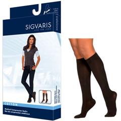 INDSG232CSLW99-PK - Sigvaris - Cotton Comfort Calf, 20-30, Small, Long, Closed, Black, 2/PK