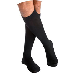 INDSG233CMLM14-EA - Sigvaris - Cotton Comfort Calf, 30-40, Medium, Long, Closed, Black Mist, 1/EA