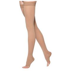 INDSG233NMLO66-EA - Sigvaris - Cotton Comfort Thigh-High with Grip-Top, 30-40, Medium, Long, Open, Crispa, 1/EA