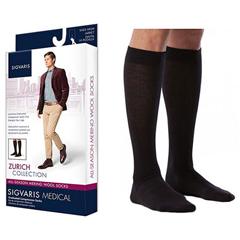 INDSG242CMLM99-EA - Sigvaris - All Season Merino Wool Calf, 20-30, Medium, Long, Closed, Black, 1/EA