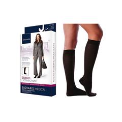INDSG242CSSW99-EA - Sigvaris - All Season Merino Wool Calf, 20-30, Small, Short, Closed, Black, 1/EA