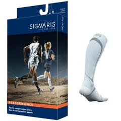 INDSG412CXL00-PK - Sigvaris - Performance Sock Calf, 20-30 mmHg, Size XL, Closed Toe, White, 2/PK