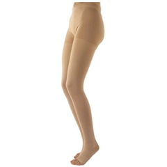 INDSG503PM4O77-EA - Sigvaris - Natural Rubber Pantyhose, 30-40 mmHg, Medium, Full, Long, Open Toe, Beige, 1/EA