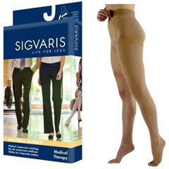 INDSG503WL4O77L-EA - Sigvaris - Natural Rubber Left Thigh-High Stocking with Waist Attachment Size L4, Natural, 1/EA