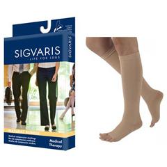 INDSG504CL4O77-EA - Sigvaris - Natural Rubber Calf, 40-50, Size L4, Open, Beige, 1/EA