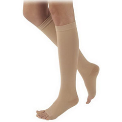INDSG504WL4OR77-EA - Sigvaris - Natural Rubber Thigh-High Stockings with Waist Attachment Size L4, Natural, 1/EA