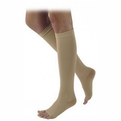 INDSG505CS3O77-EA - Sigvaris - Natural Rubber Knee-High Compression Stockings Size S3, Natural, 1/EA