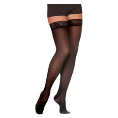 INDSG781NMLW99-EA - Sigvaris - EverSheer Thigh-High with Grip-Top, 15-20, Medium, Long, Closed, Black, 1/EA