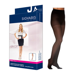INDSG781PLLW99-EA - Sigvaris - EverSheer Pantyhose, 15-20, Large, Long, Closed, Black, 1/EA