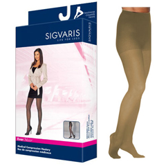 INDSG781PMLW33-EA - Sigvaris - EverSheer Pantyhose, 15-20, Medium, Long, Closed, Natural, 1/EA