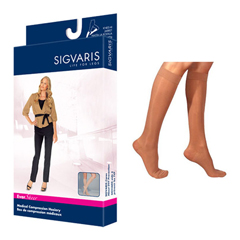 INDSG782CMLW36-EA - Sigvaris - Eversheer Calf, 20-30 mmHg, Medium, Long, Womens Closed Toe, Suntan, 1/EA