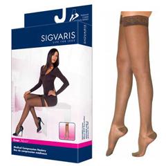 INDSG782NMSW36-EA - Sigvaris - EverSheer Thigh High with Grip-Top, 20-30, Medium, Short, Closed, Suntan, 1/EA