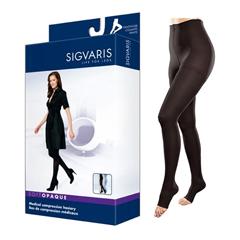 INDSG842PLLO99-EA - Sigvaris - Soft Opaque Pantyhose, 20-30, Large, Long, Open, Black, 1/EA