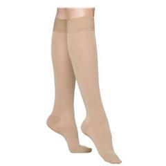 INDSG862CXSW66S-EA - Sigvaris - Select Comfort Womens Knee-High Stockings with Grip Top, Small Short, 20 - 30 mmHg, Crispa, 1/EA